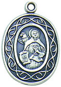 St Nicholas Crown of Thorns Sterling Silver Medal
