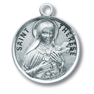 St Therese Sterling Silver Medal