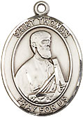 St Thomas Sterling Silver Medal
