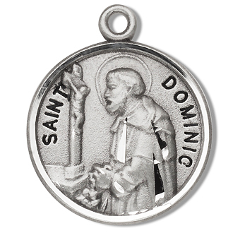 St Dominic Sterling Silver Medal