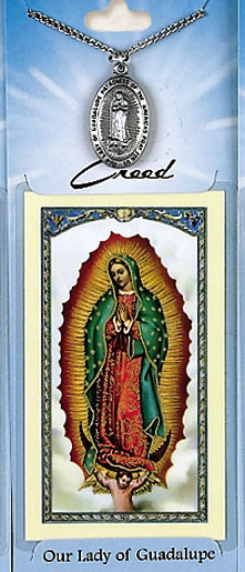 Lady of Guadalupe Prayer Card with Pewter Medal