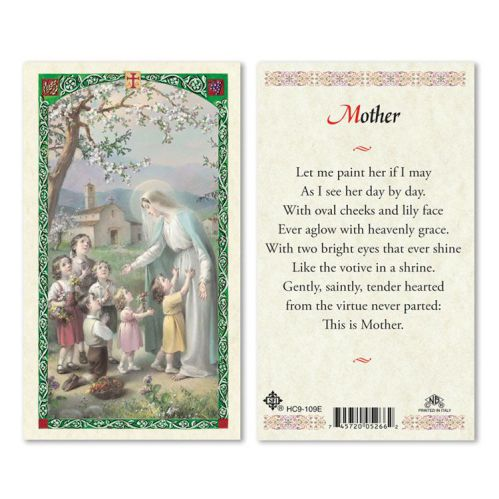 Mother Laminated Prayer Card