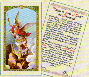 Saint Michael the Archangel Laminated Card
