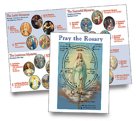 Pray the Rosary Card