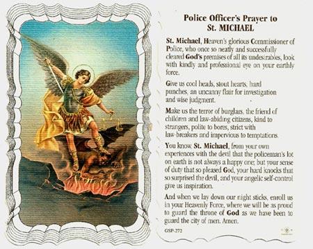 Police Officers Prayer Linen Prayer Card