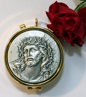 Head of Christ Brass Pyx
