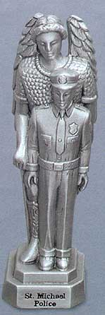 St Michael Police Pewter Statue