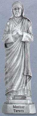 Mother Teresa Pewter Statue