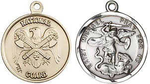 Round National Guard St Michael Medal