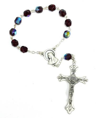 Dark Ruby One Decade Rosary