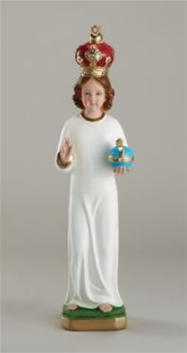 Infant of Prague Statue with Plaster Crown - 16 inch
