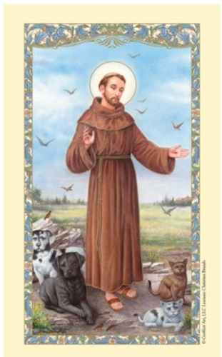 Saint Francis - Prayer for my Pet - Laminated Prayer Card