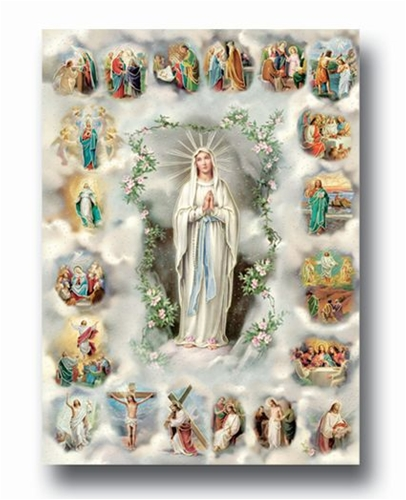20 Mysteries of the Rosary Poster