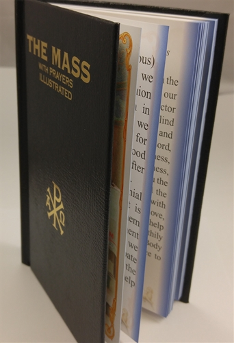 The Mass with Prayers Illustrated - Black Cover