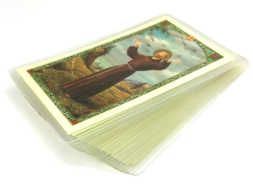 25 Laminated prayer cards (CHOOSE ONE SAINT OR DEVOTION)