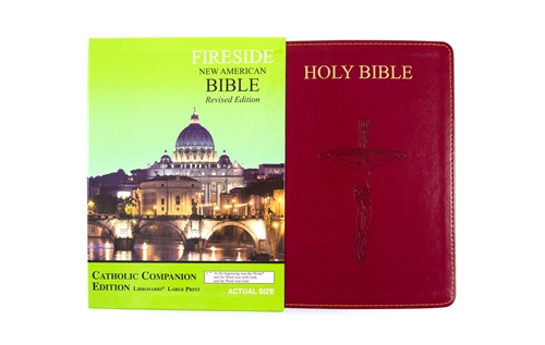 Catholic Companion Edition Bible - Large Print ~ NABRE Burgundy