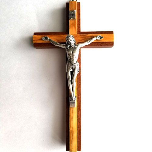 Two Tone Crucifix with Pewter Corpus