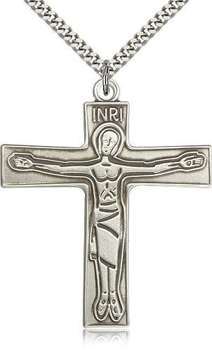 Cursillo Crucifix Medal - Sterling Silver or Gold Filled
