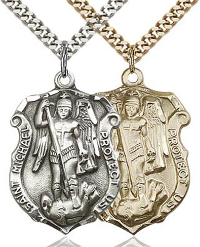 St Michael Shield Medal - Patron Saint of Police & Military