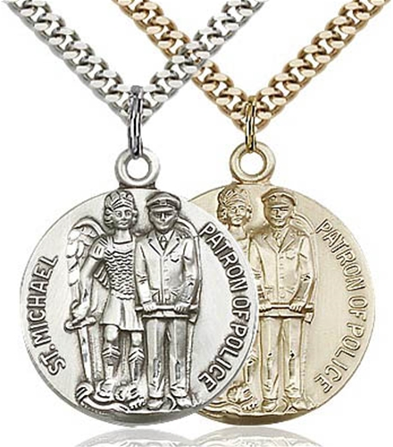 St Michael - Patron Saint of Police Round Medal
