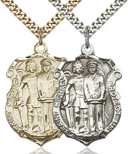 Patron of Police - St. Michael Protect Us Badge Medal