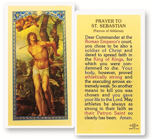 St  Sebastian Laminated Prayer Card