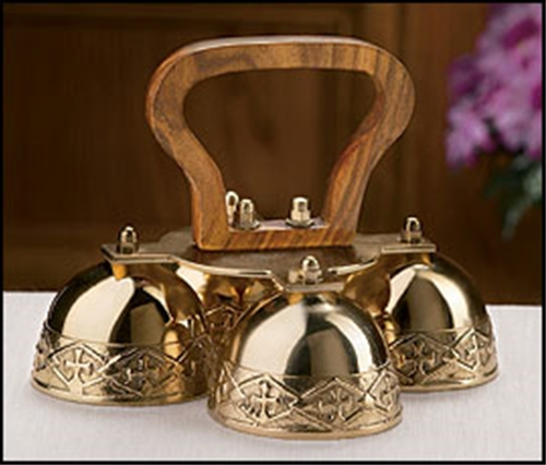 Embossed Brass Altar Bells