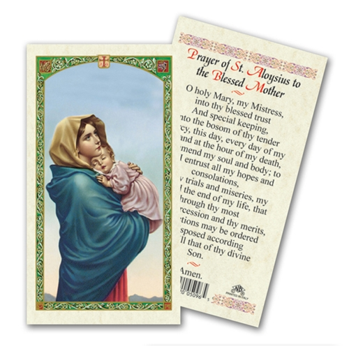 Saint Aloysius & Madonna of the Streets Laminated Prayer Card