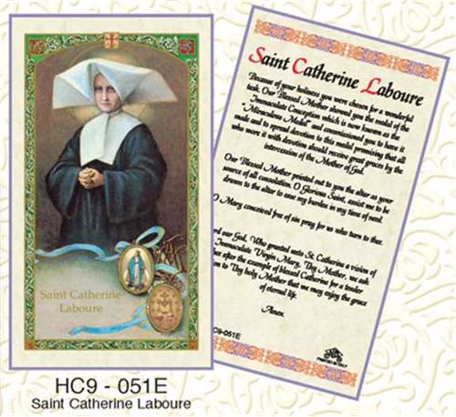 Saint Catherine Laboure Laminated Prayer card