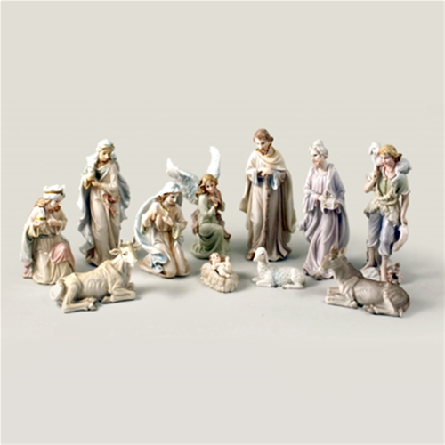 18 inch Pearlized Nativity Set, 11 piece