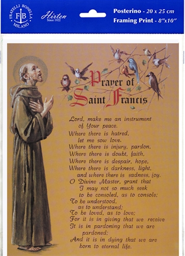Prayer of St. Francis Framing Print