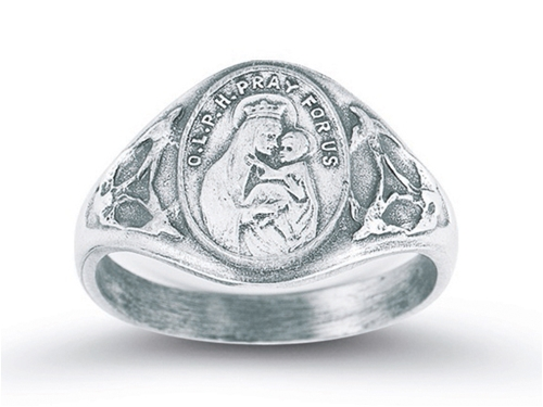 Our Lady of Mount Carmel Scapular Medal Ring sizes 5-9