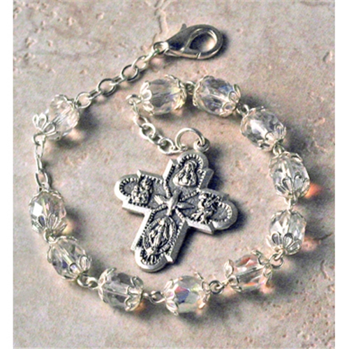 Crystal Confirmation Rosary Bracelet