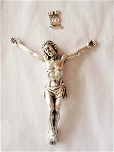 4.5 Inches Pewter Corpus with INRI