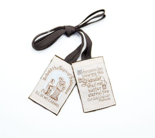 Traditional Brown Wool Scapular - Washable