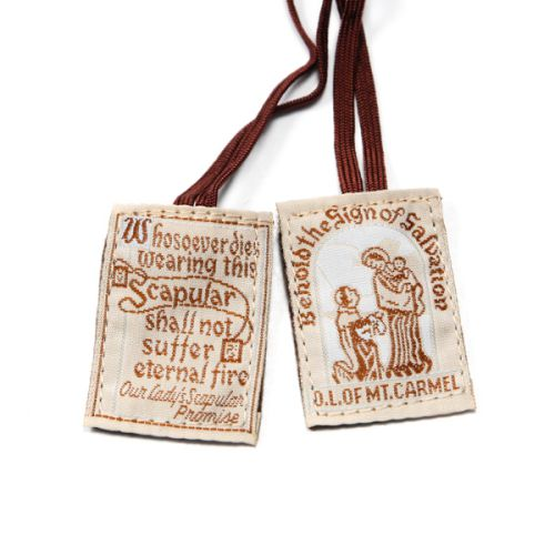 Traditional Brown Scapular - Brown Cord