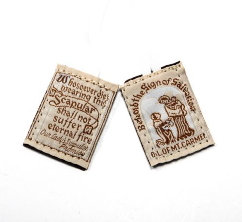 Traditional Brown Scapular - white cord