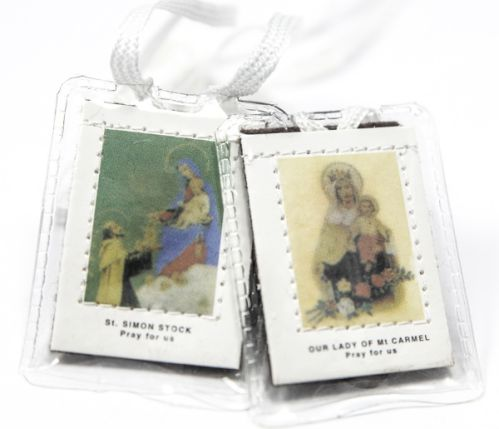 Our Lady of Mt. Carmel Scapular-White Cord