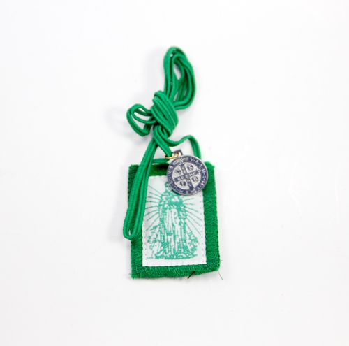 Green Immaculate Heart Long Cord Scapular