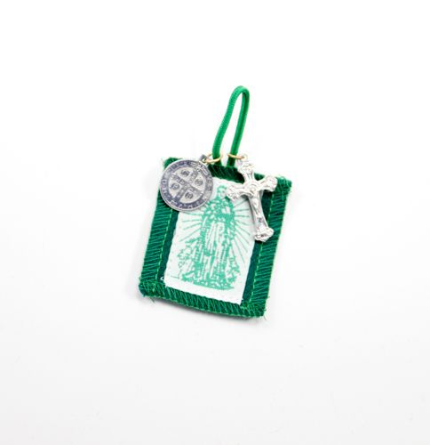 Green Immaculate Heart Wallet Scapular
