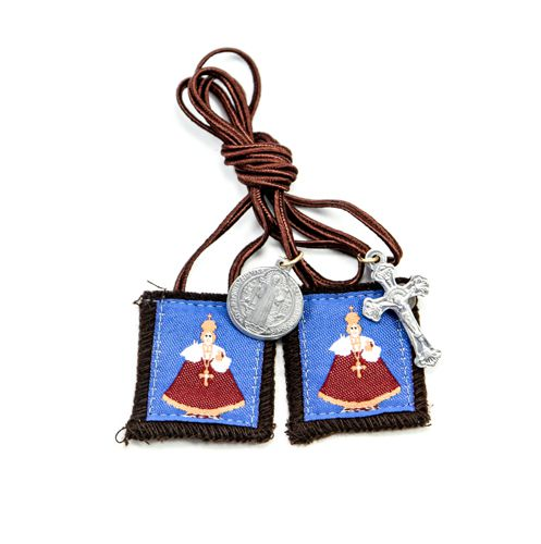 Infant of Prague Wool Scapular