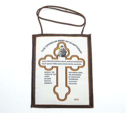 Cross and Brief of St. Anthony Wall Scapular