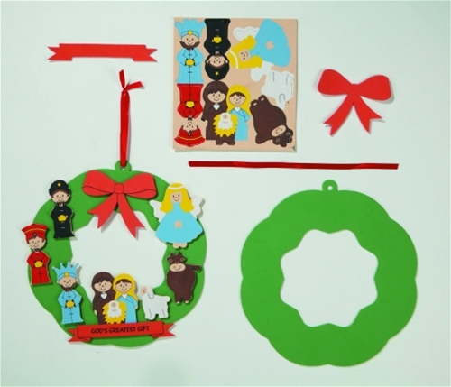 Nativity Foam Wreath Craft Kit
