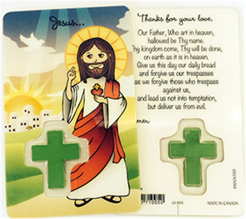 Child's Our Father Laminated Prayer Card