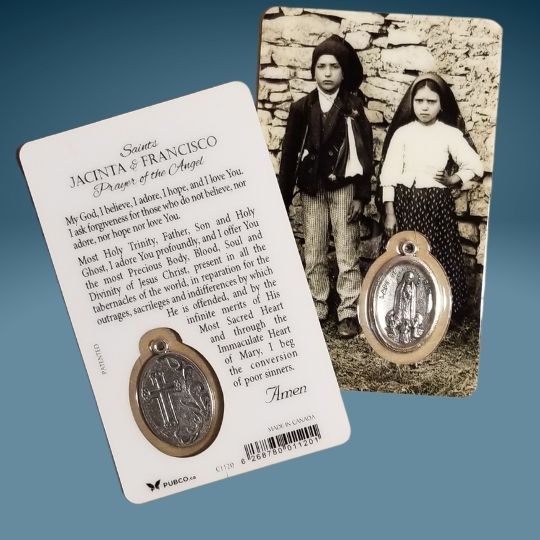 Sts. Jacinta and Francisco Prayer of the Angel Card