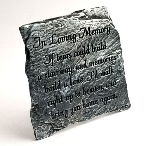 In Loving Memory Plaque