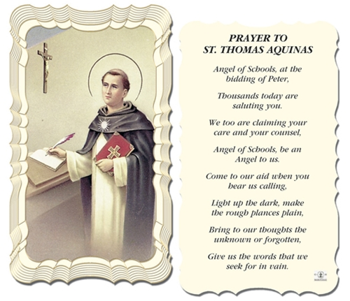 A Student's Prayer St. Thomas Aquinas